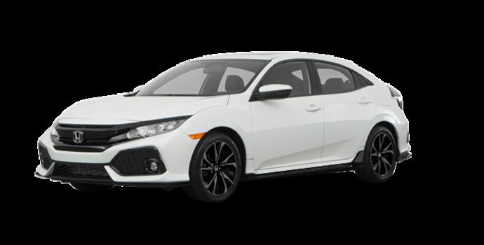 2018 Honda Civic hatchback SPORT HONDA SENSING | Photo 6 | White Orchid Pearl
