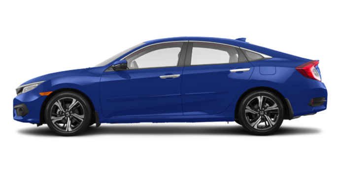 2018 Honda Civic Sedan TOURING   Photo 4   Aegean Blue Metallic