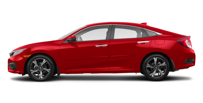 2018 Honda Civic Sedan TOURING   Photo 4   Rallye Red
