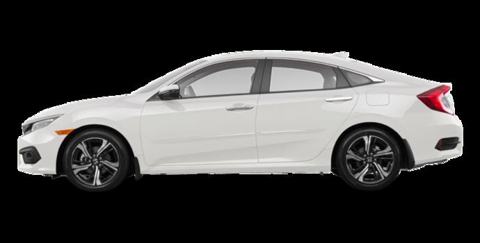 2018 Honda Civic Sedan TOURING   Photo 4   White Orchid Pearl