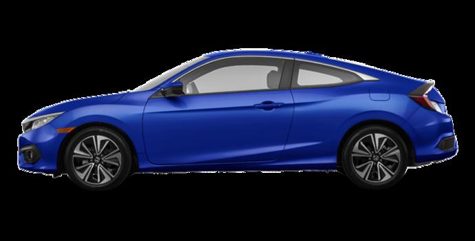2018 Honda Civic Coupe EX-T HONDA SENSING   Photo 4   Aegean Blue Metallic