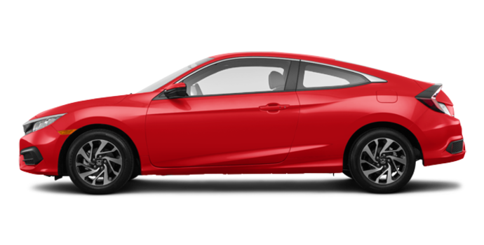 2018 Honda Civic Coupe LX   Photo 4   Rallye Red