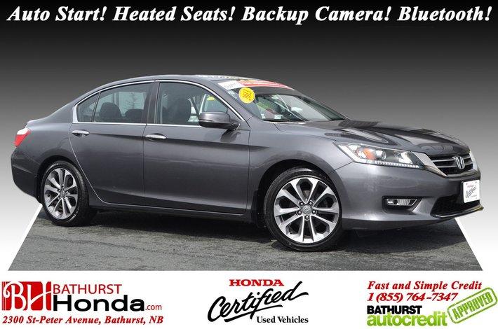 2013 Honda Accord Sedan SPORT Auto Start! Heated Seats! Backup Camera!  Bluetooth!