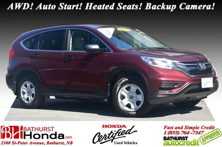 2016 Honda CR V LX   AWD AWD! Auto Start! Heated Seats!
