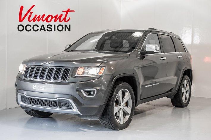 2014 Jeep Grand Cherokee Limited Cuir Toit Mags Gps Camera De Recul