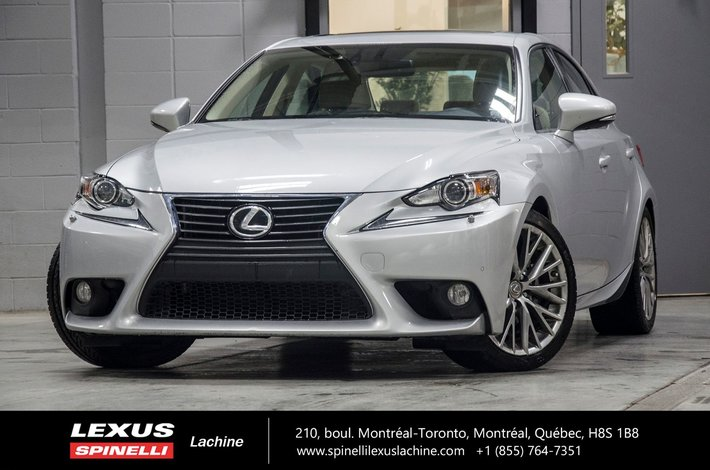 2014 Lexus IS 250 LUXE AWD; CUIR TOIT GPS GPS   BLIND SPOT MONITOR