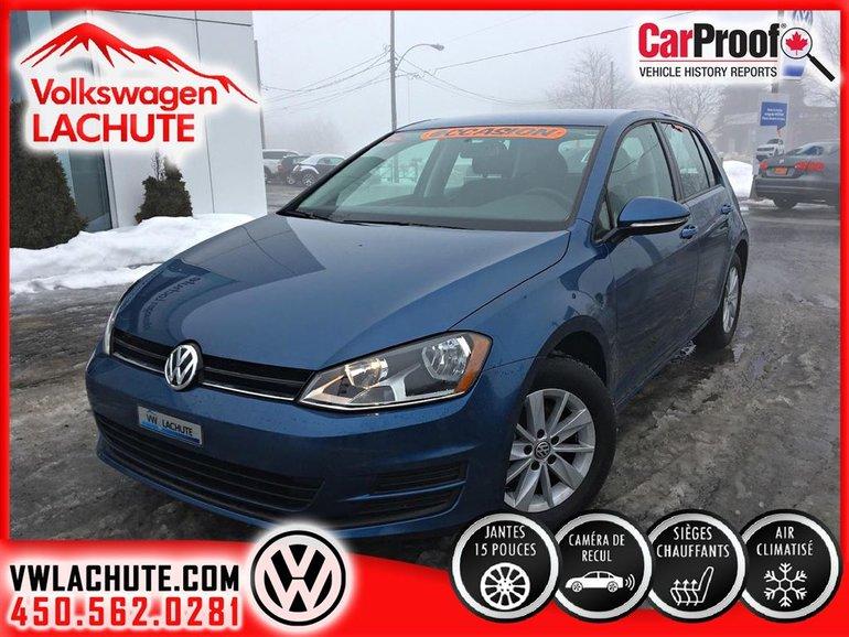 Volkswagen Golf TRENDLINE+154$/2SEM TX INC 84 MOIS 4.9% 2017