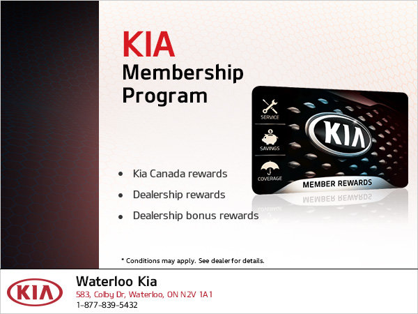 Kia Membership Program Waterloo Kia