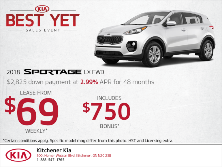 Lease the 2018 Sportage!