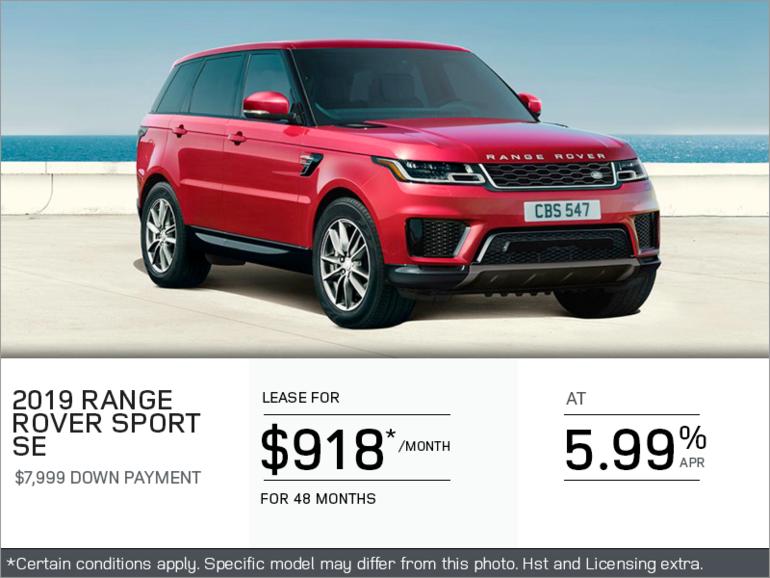 The 2019 Range Rover Sport SE