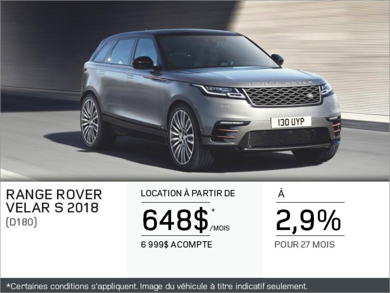 Le Range Rover Velar 2018