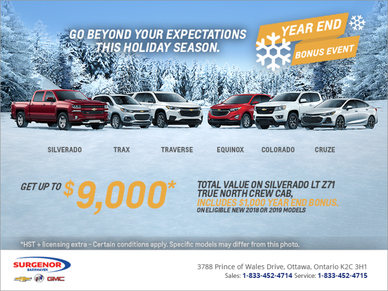 Chevrolet's Year End Bonus Event!