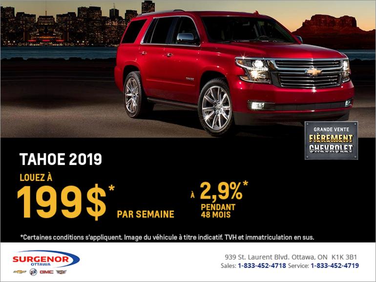 Louez le Chevrolet Tahoe 2019