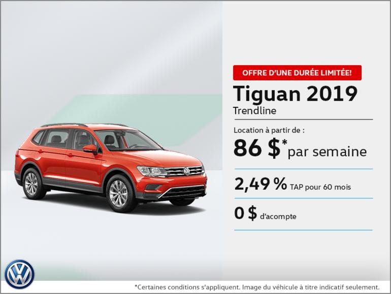 Louez le Tiguan 2019!