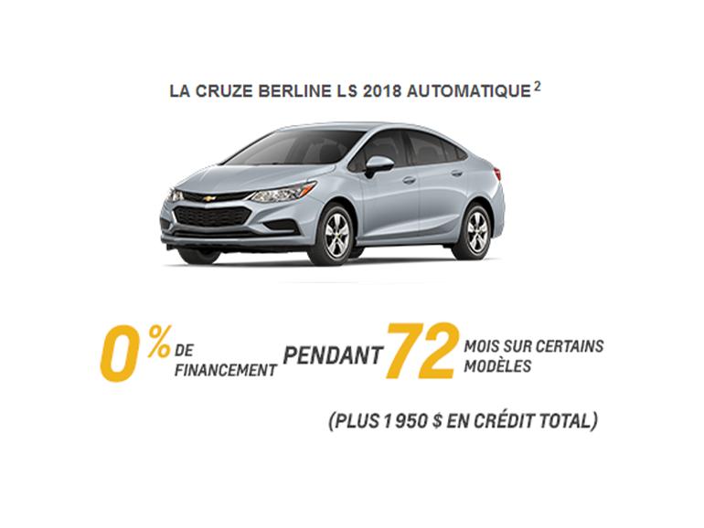Chevrolet Cruze Berline LT 2018