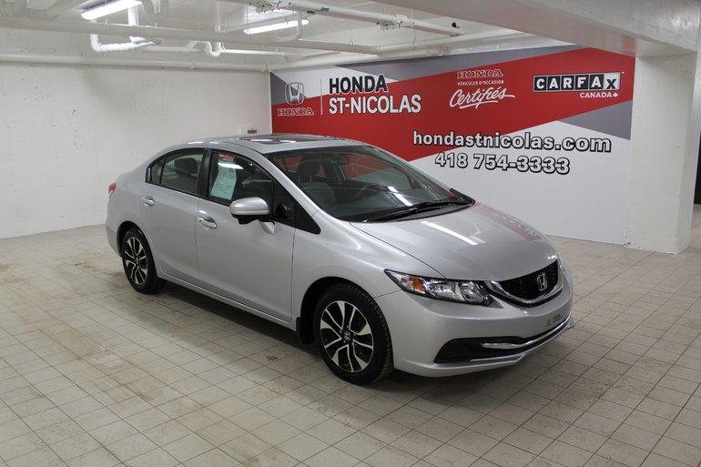 Honda St Nicolas Pre Owned 2014 Honda Civic Sedan Ex Toit