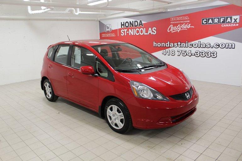 Honda Fit LX + CLIM CLIM **10 000KM** + JAMAIS ACCIDENTÉ 2013