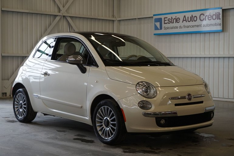 Fiat 500 Lounge (cuir-toit ouvrant pano) 2012