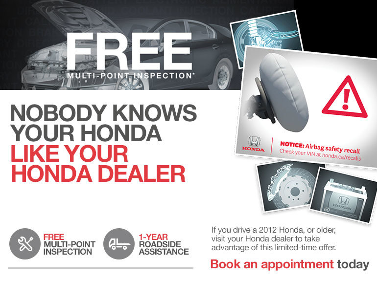 bd8efd6833cc5e Free Multi-point Inspection - Lallier Honda Hull Promotion in Gatineau