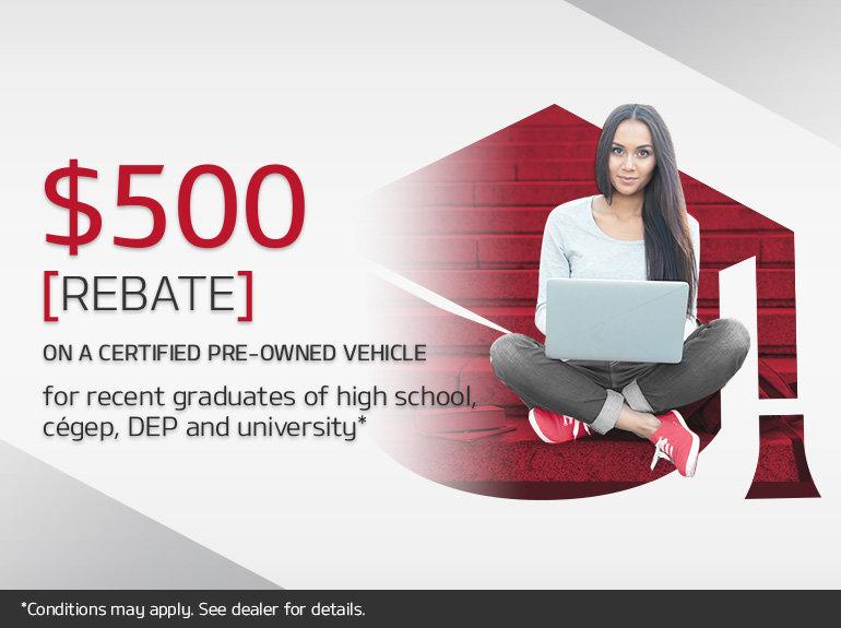 Graduate Rebate on Certified Pre-Owned Vehicles