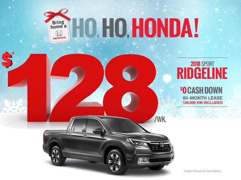 Bring home a Honda - Ridgeline