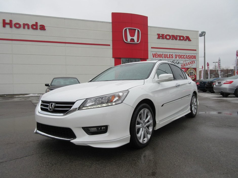 honda accord touring v6 2015 d 39 occasion lallier honda montreal. Black Bedroom Furniture Sets. Home Design Ideas