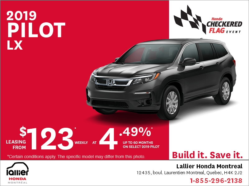Lease the 2019 Honda Pilot!