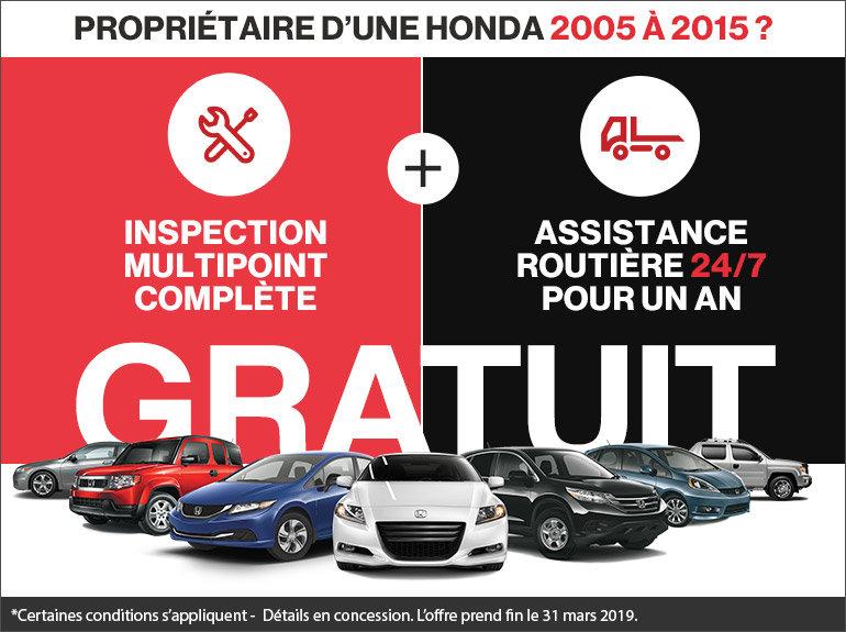 Inspection multipoint et assistance routière sans frais!