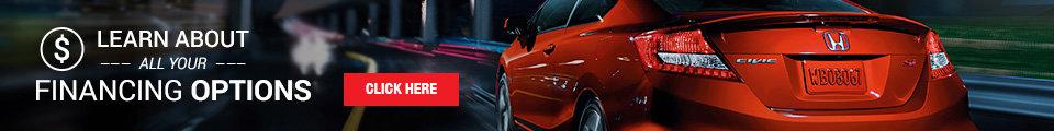 Promo financing banner Honda