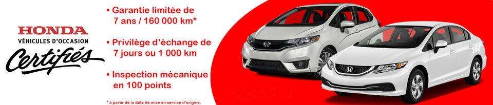 Honda Certifies