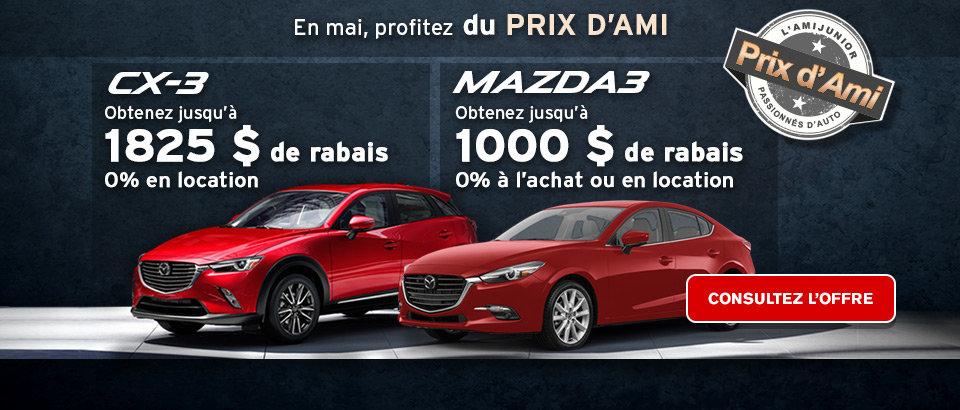 Prix d'ami - CX3 et Mazda3