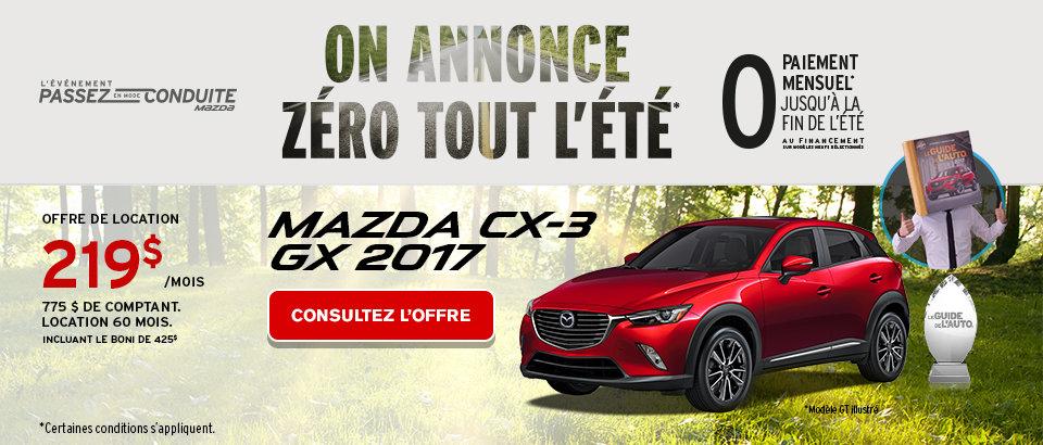 L'ami Mazda Phase 2 CX3 - Mai 2017