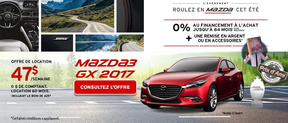 Événement Ventes Mazda Juillet-M3