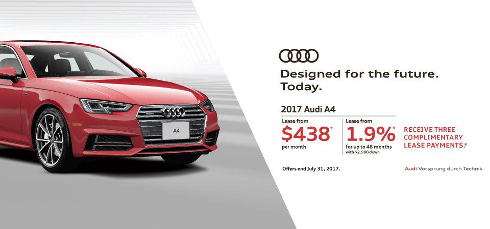 July 2017 Audi A4 Offer